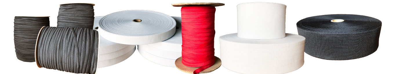 Knitted Elastic Rolls and Spools